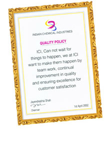 Quality Policy of Pigments, Dyestuffs of Indian Chemical Industries from India